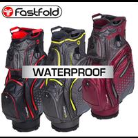 FastFold Thunder Waterproof Cart Bag burgundy/grey