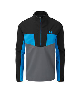 Under Armour UA Storm Windstrike 1/2 Zip-Black / Pitch Gray / Electric Blue