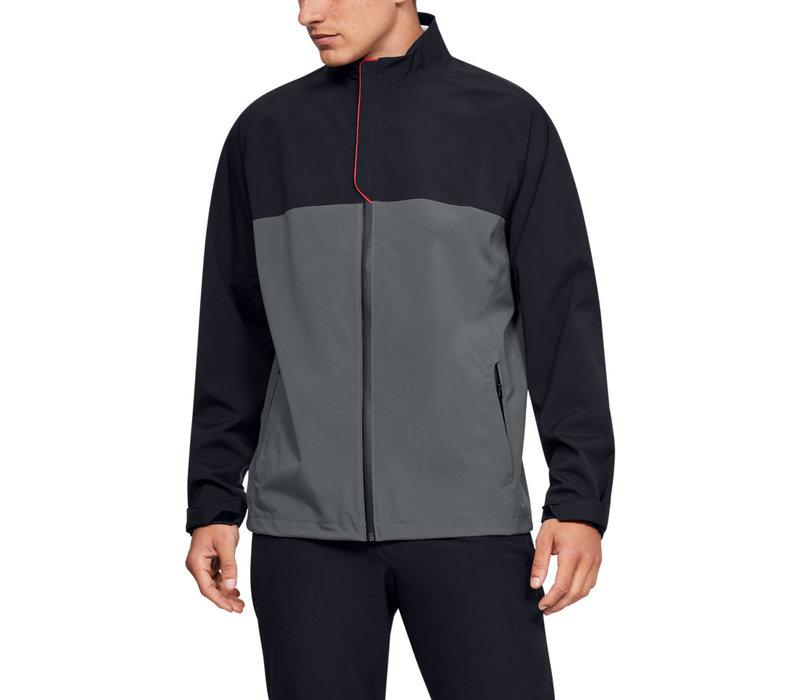 UA Elements Rain Jacket-Black / Pitch Gray / Pitch Gray