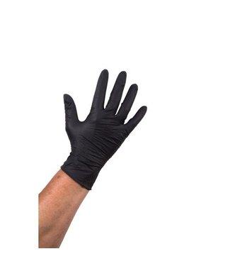 Nitril handschoen Zwart (per doos a 100 stuks)
