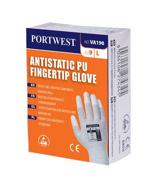 VA198 - Antistatisch PU Vingertip handschoen voor uitgifteautomaten