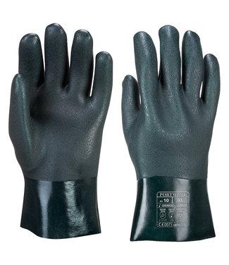 A827 - Dubbel Gedompelde PVC-Handschoen 27cm Groen