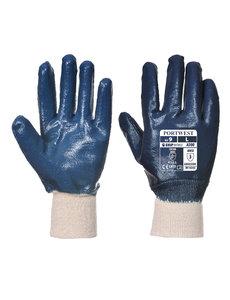 A300 - Nitril handschoen met gebreid manchet Marine