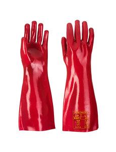 A445 - PVC-Werkhandschoen Rood