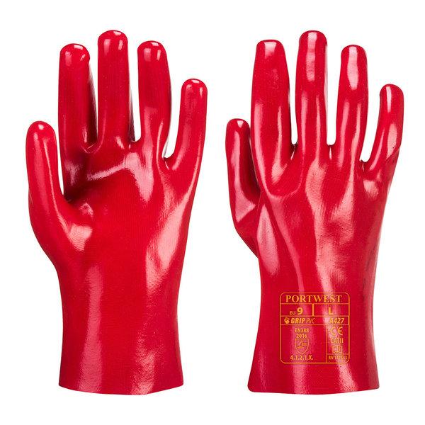 A427 - PVC-Werkhandschoen Rood