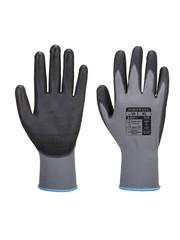 A120 - PU Palm Handschoen Grijs/zwart
