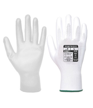 A120 - PU Palm Handschoen Wit