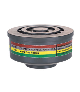 P920 - ABEK1 Gas Filter Speciale Schroefdraadbevestiging (4 stuks)