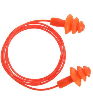 EP04 - Herbruikbare TPR oordoppen met koord (50 paar)