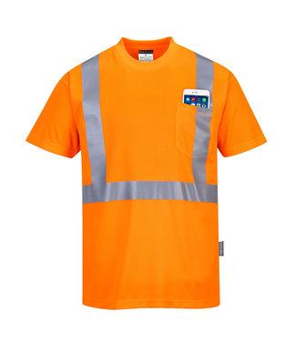 S190 - Hi-Vis T-shirt met borstzak
