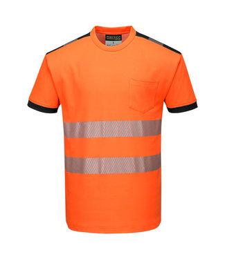 T181 - PW3 Hi-Vis Vision T-Shirt Korte Mouw