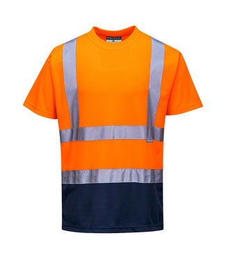 S378 - Tweekleuren T-shirt