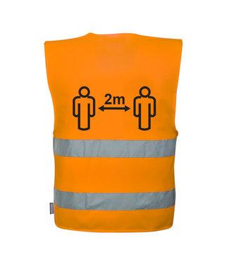 C406 - Hi-Vis Social Distance Vest 2m