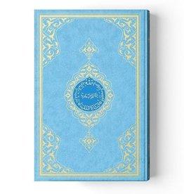 Orta Boy Kur'an-ı Kerim (2 Renkli, Mavi, Mühürlü)
