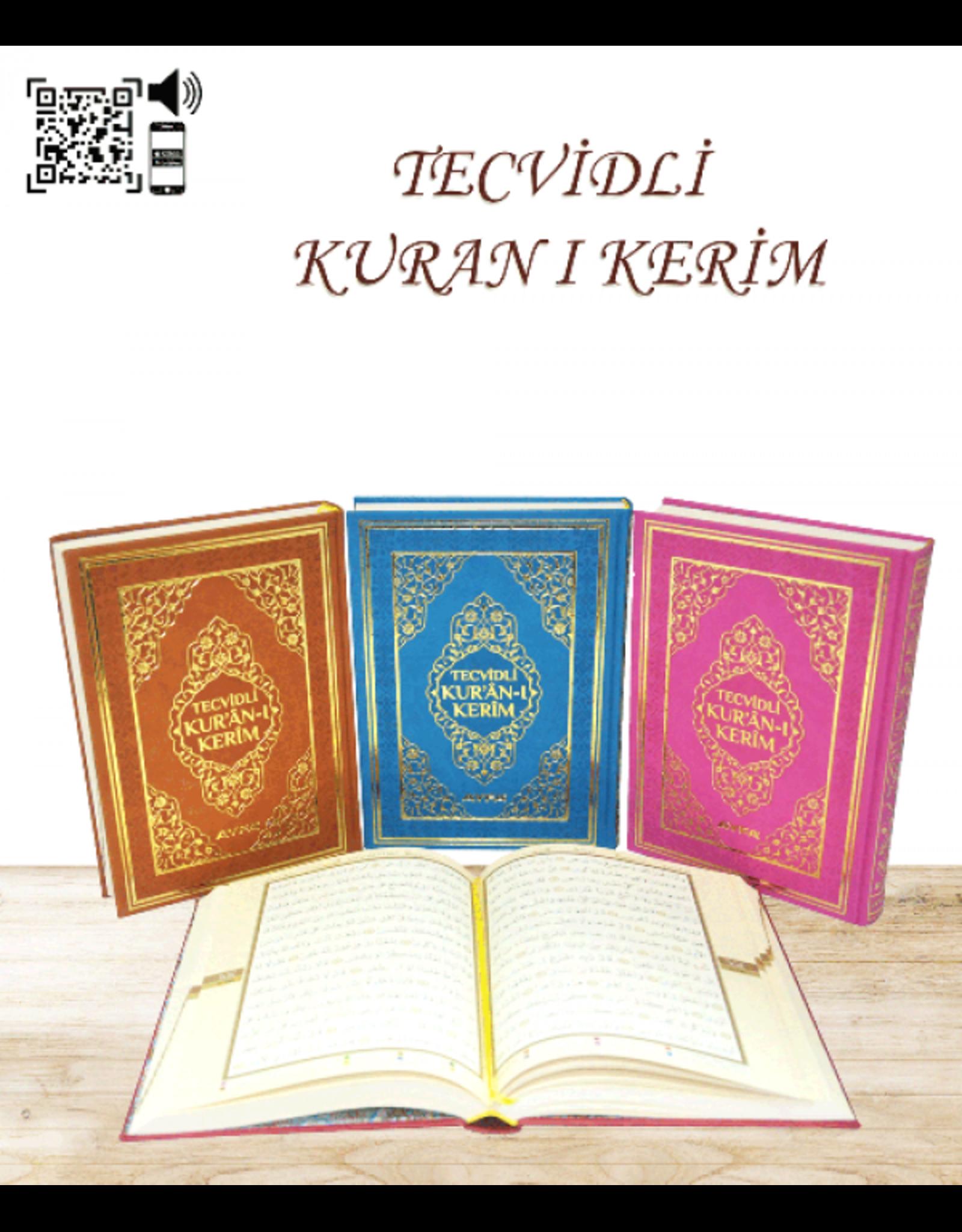 Tecvidli Kur'anı Kerim Orta Boy Muhtelif Renk
