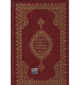 Kur'an-ı Kerim ve Karşılıklı Muhtasar Meali Orta Boy