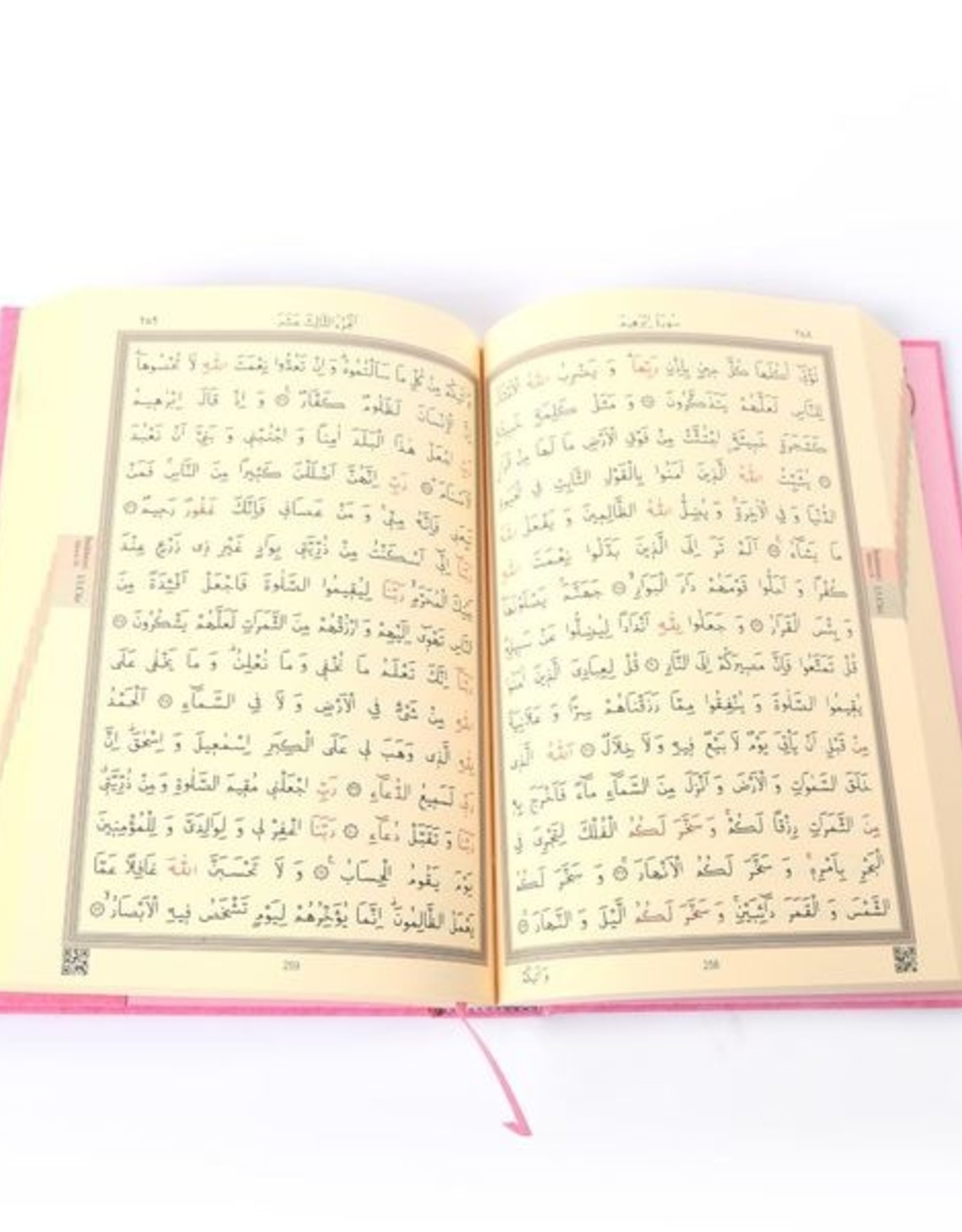 Kur'an-ı Kerim Rahle Boy Pembe  Renkli
