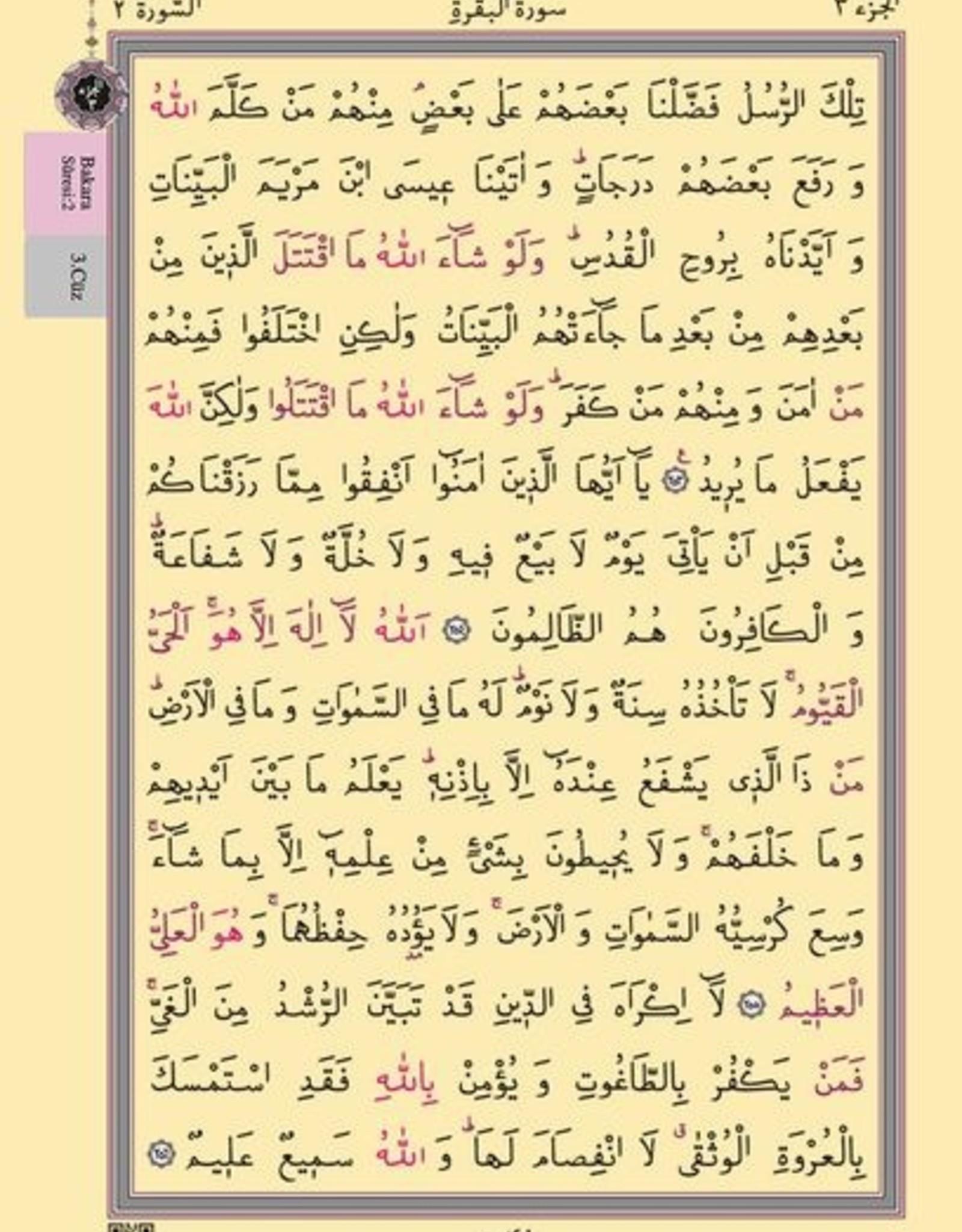 Rahle Boy Kur'an-ı Kerim Pembe Renkli