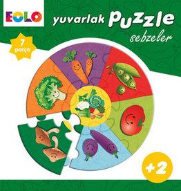 Yuvarlak Puzzle Sebzeler 7 Parça