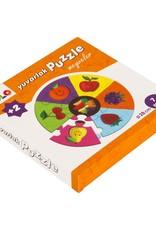 Yuvarlak Puzzle Meyveler 7 Parça