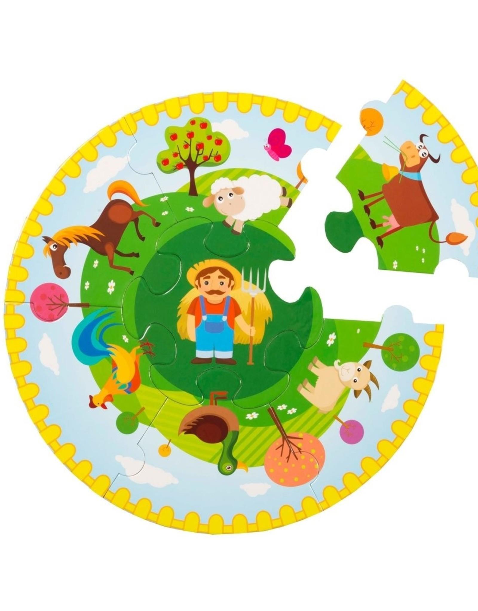 Yuvarlak Puzzle Çiftlik 7 Parça