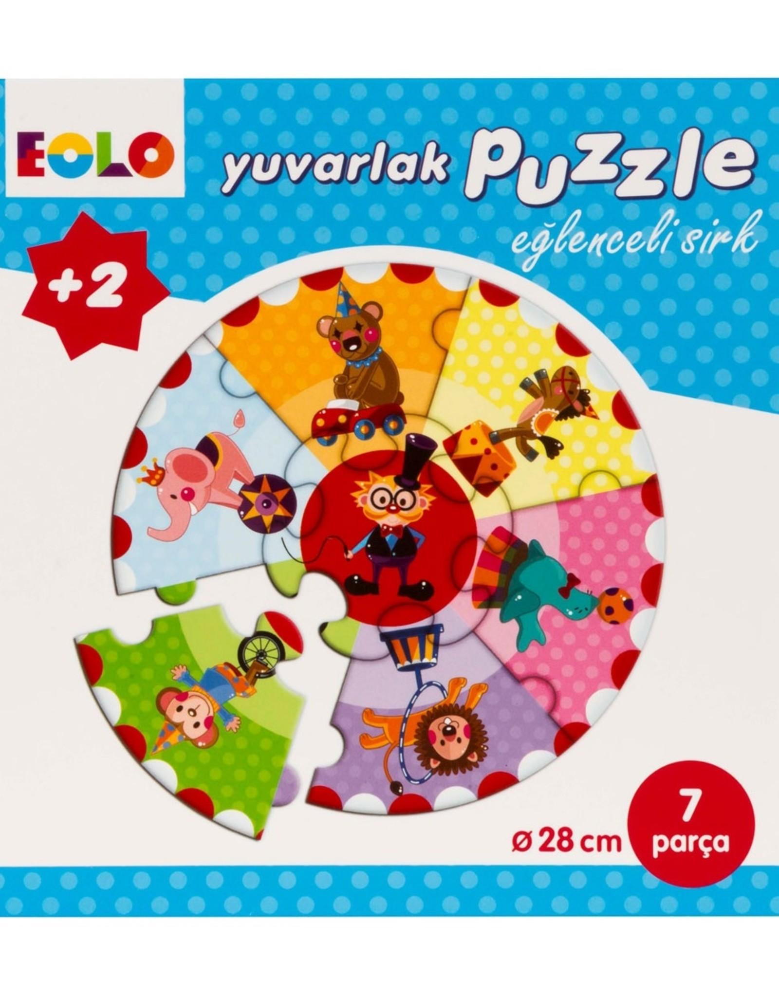 Yuvarlak Puzzle Eğlenceli Sirk 7 Parça