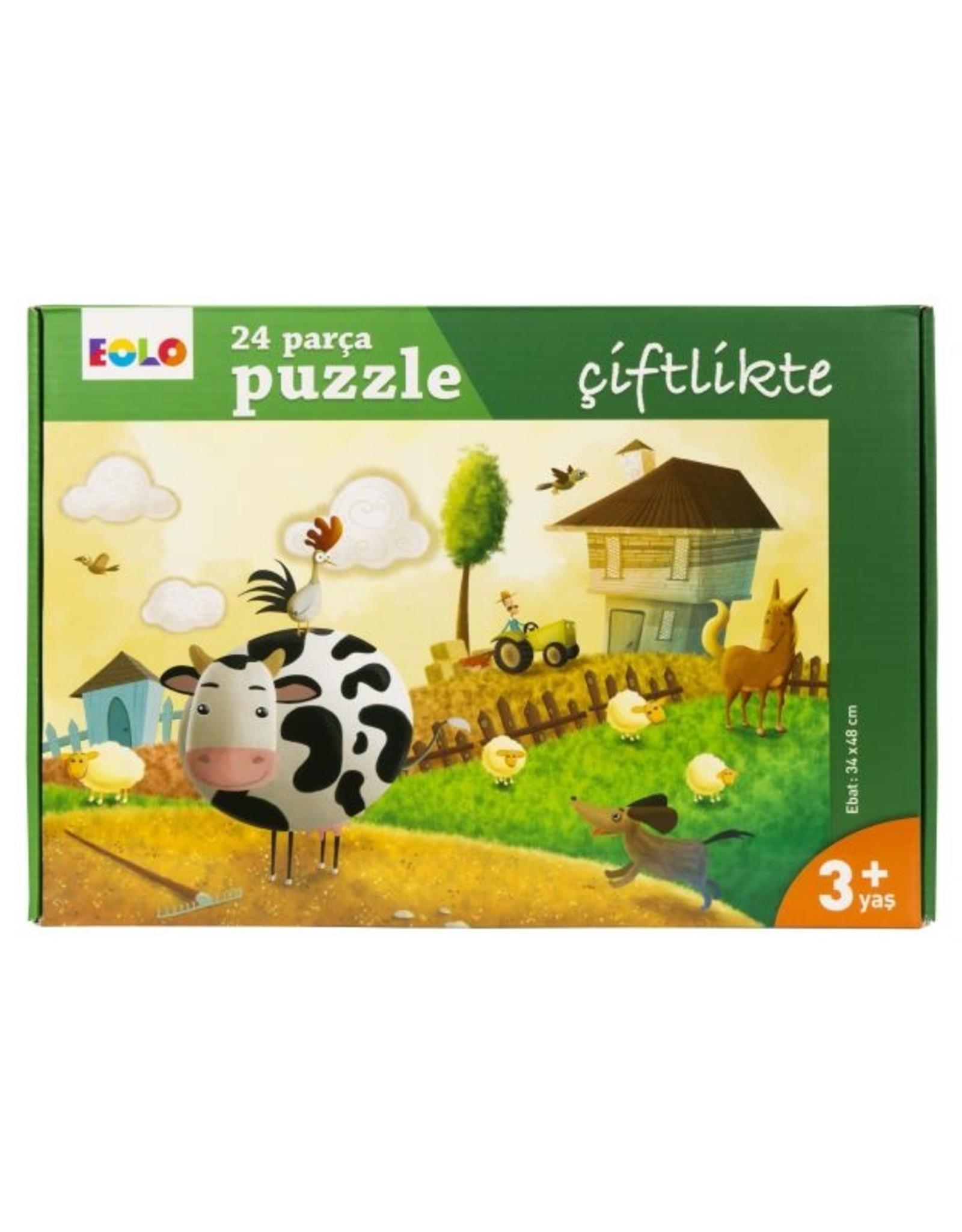 24 Parça Puzzle Çiftlikte