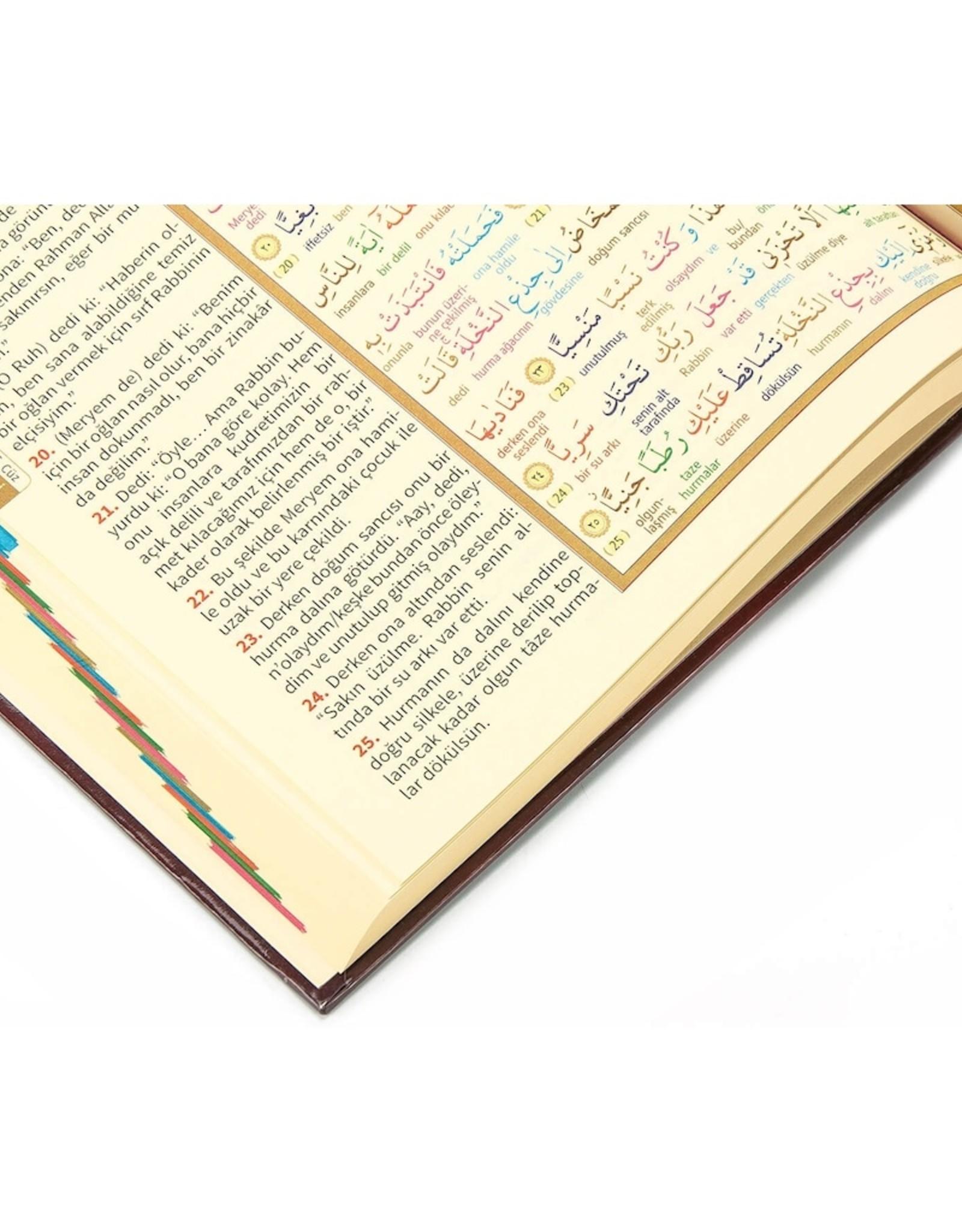 Kur'an-ı Kerim ve Renkli Kelime Meali Rahle Boy