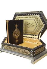 Ahşap Kutulu Altıgen Model Hafiz boy Kur'an