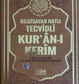Kur'an-ı Kerim Büyük Boy Bilgisayar Hatlı Tecvidli