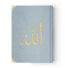 Kur'anı Kerim Gökkuşağı Renkli  Orta Boy Kadife Kapaklı