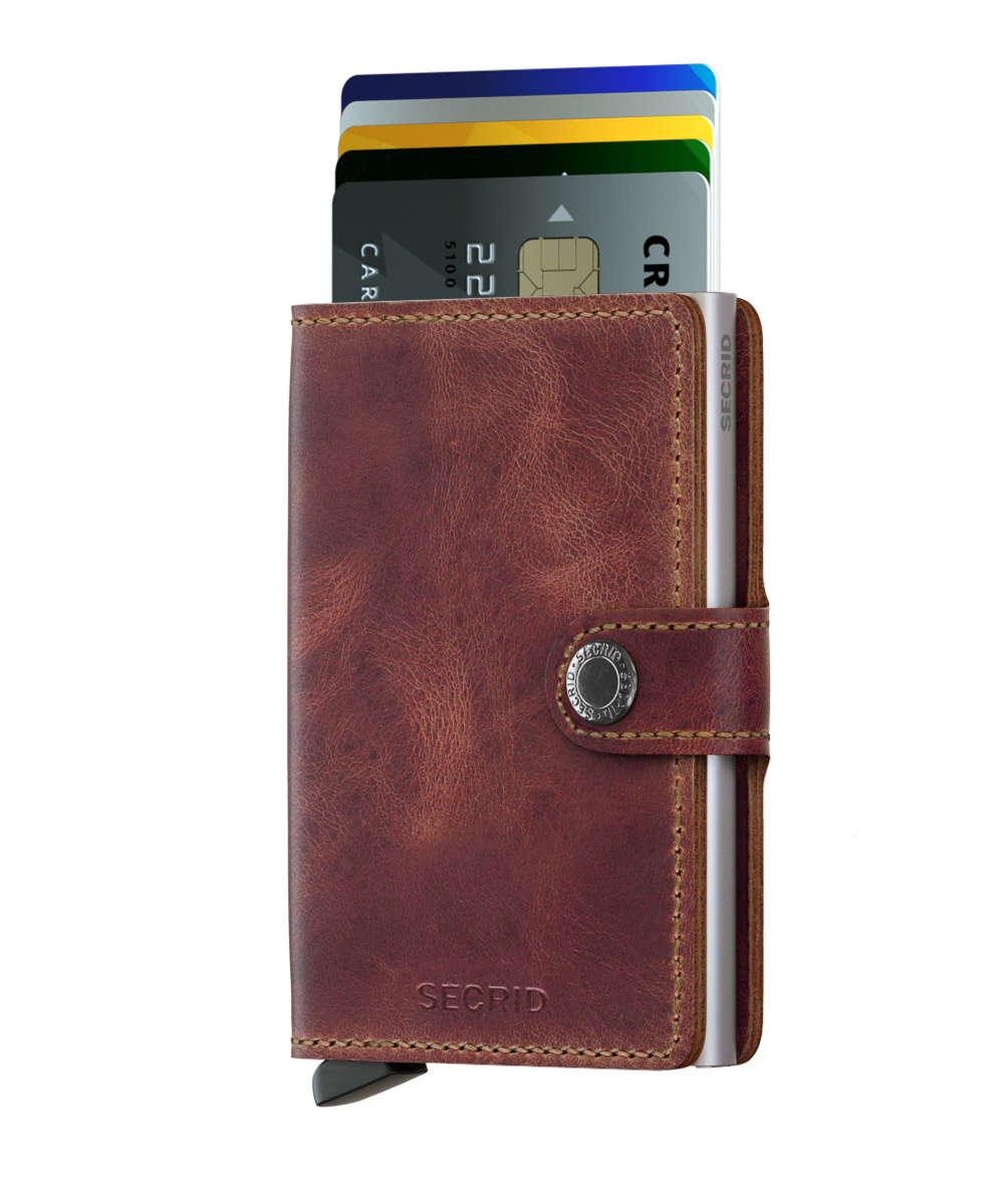 Secrid Portefeuille Secrid Miniwallet Vintage Brown