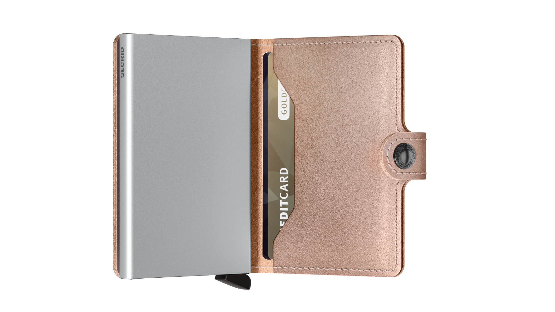 Secrid Portefeuille Secrid Miniwallet Metallic Rose