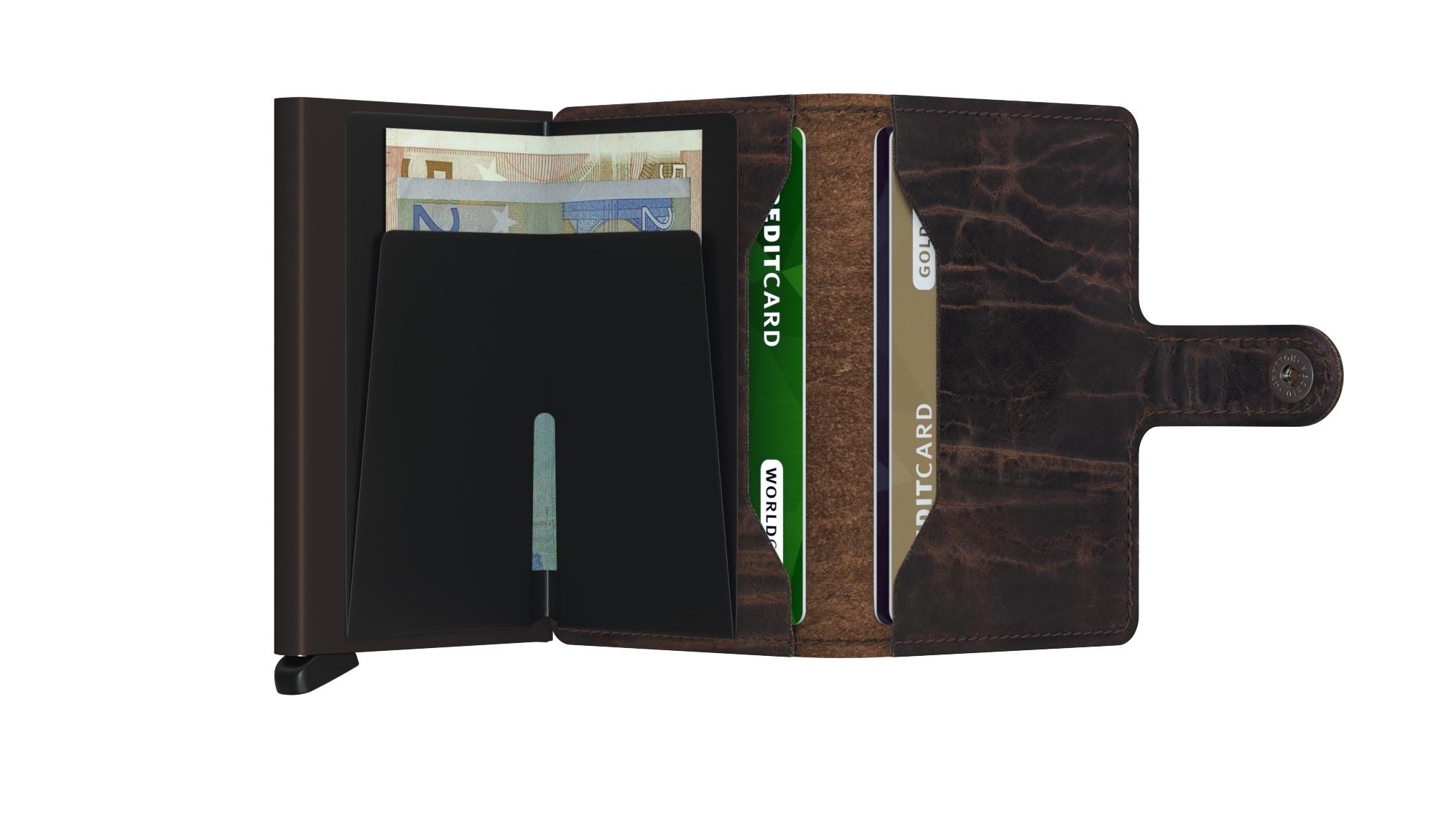 Secrid Portefeuille Secrid Miniwallet Dutch Martin Cacao-Brown