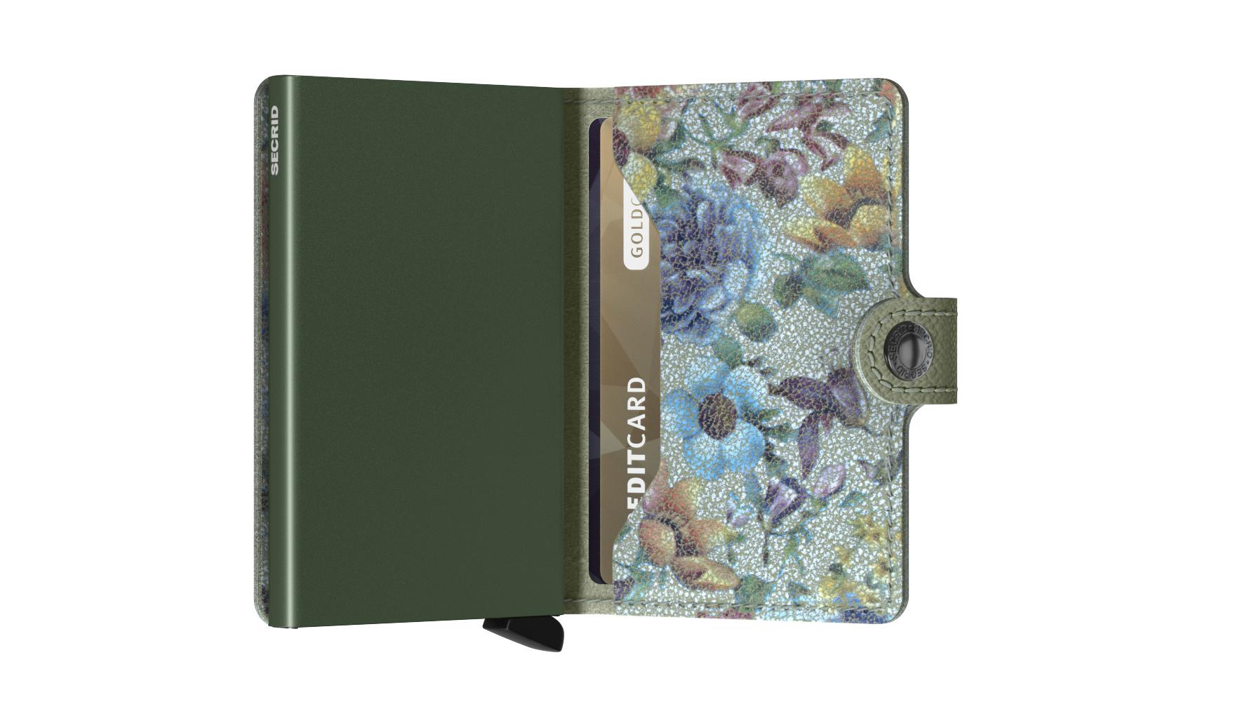 Secrid Portefeuille Secrid Miniwallet Crisple Pistachio Floral