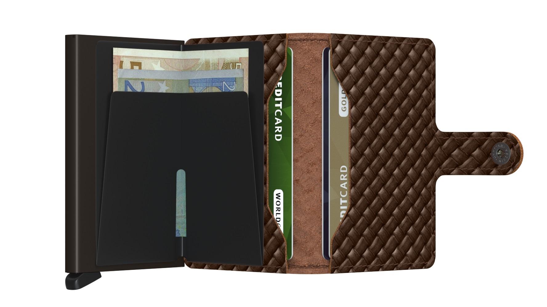 Secrid Portefeuille Secrid Miniwallet Basket Brown