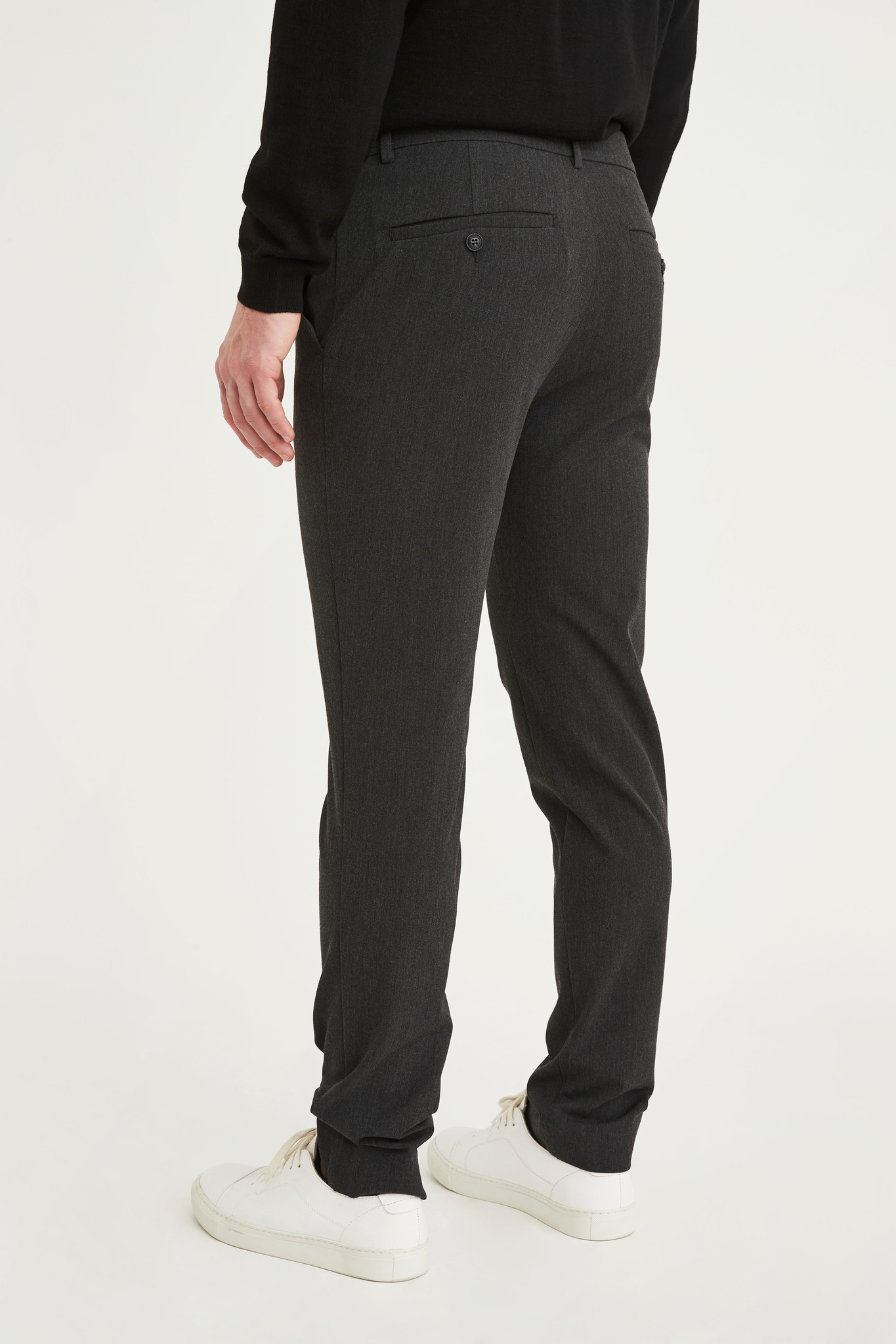 Plain Broek Plain Josh 315 Dark Grey Melange