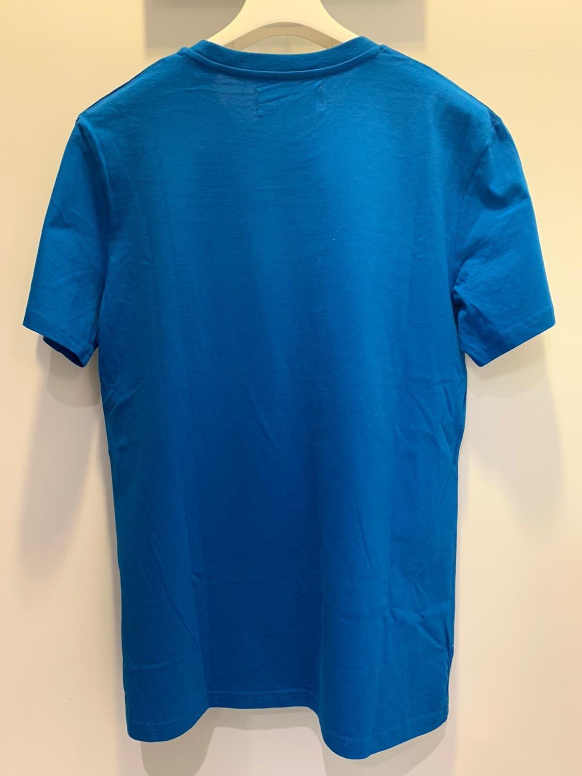 Deux Belges T-shirt Deux Belges Neil FRZA Royal Blue