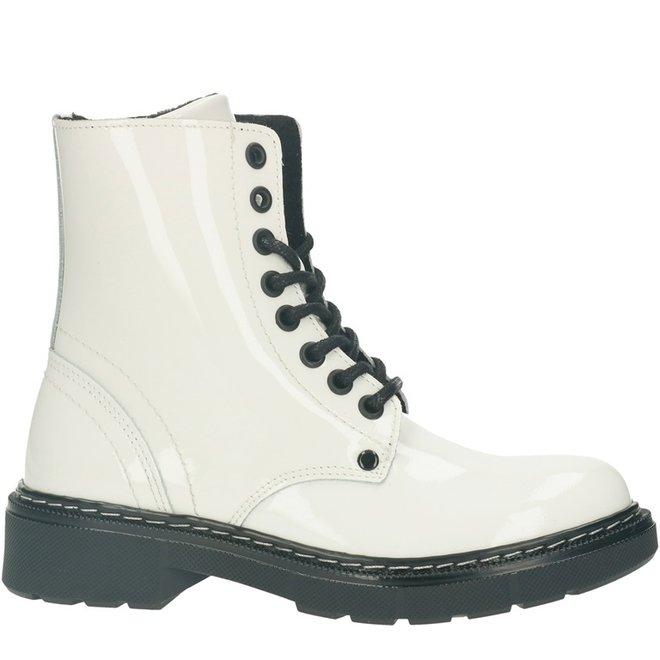 Biker Boots White AOL501E6LGWHITKB