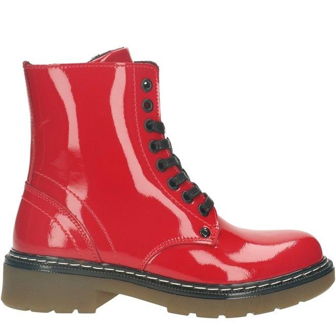 Biker Boots Red