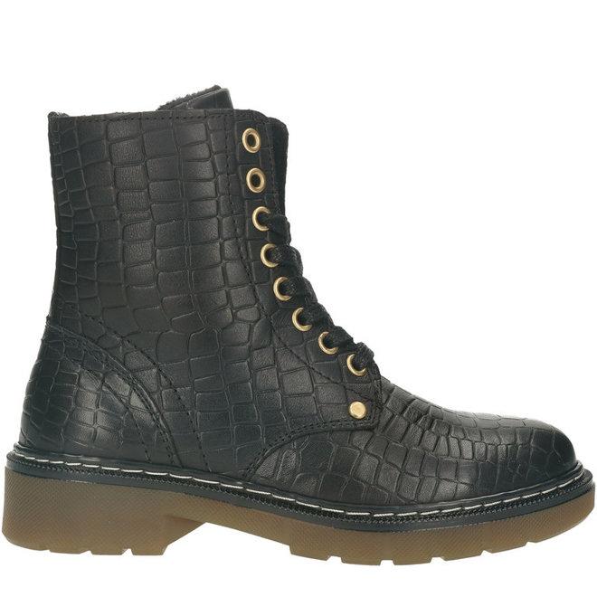 Biker-Boots Schwarz AOL501E6LGBLCRKB