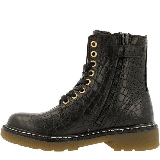 Biker-Boots Schwarz AOL501E6LCBLCRKB