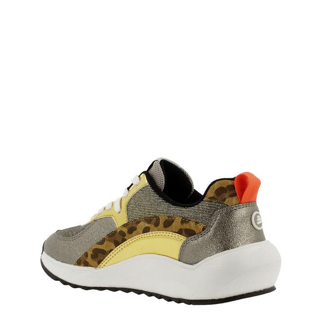 Sneaker Goldfarben mit Schlangenprint 001000F5S_GNGDTD