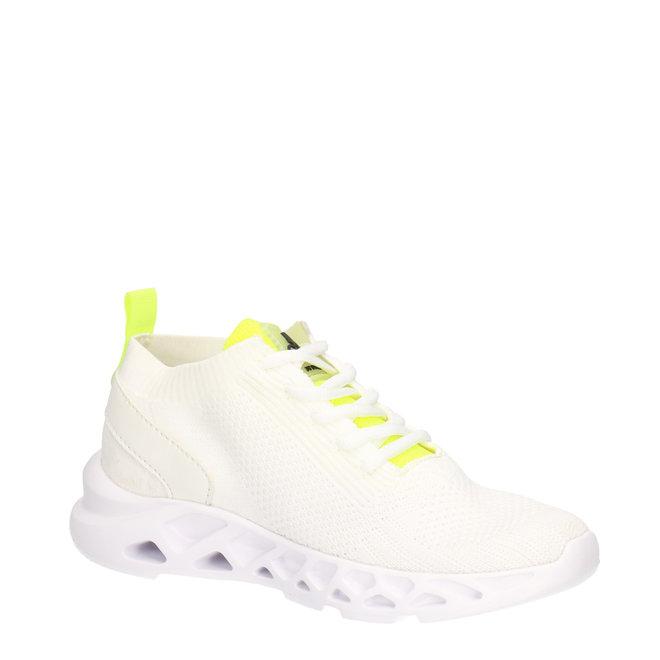 Sneaker Weiß aus gewebtem Textil  021002F5T_WHITTD