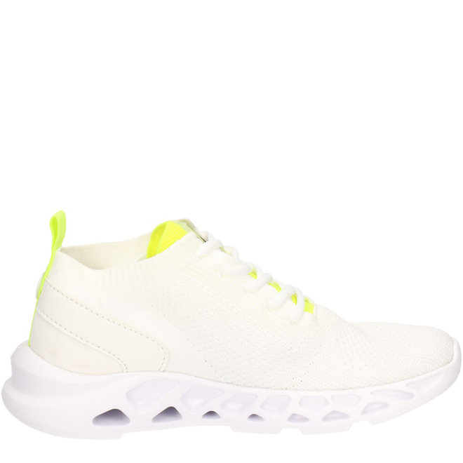 Sneaker Weiß aus gewebtem Textil