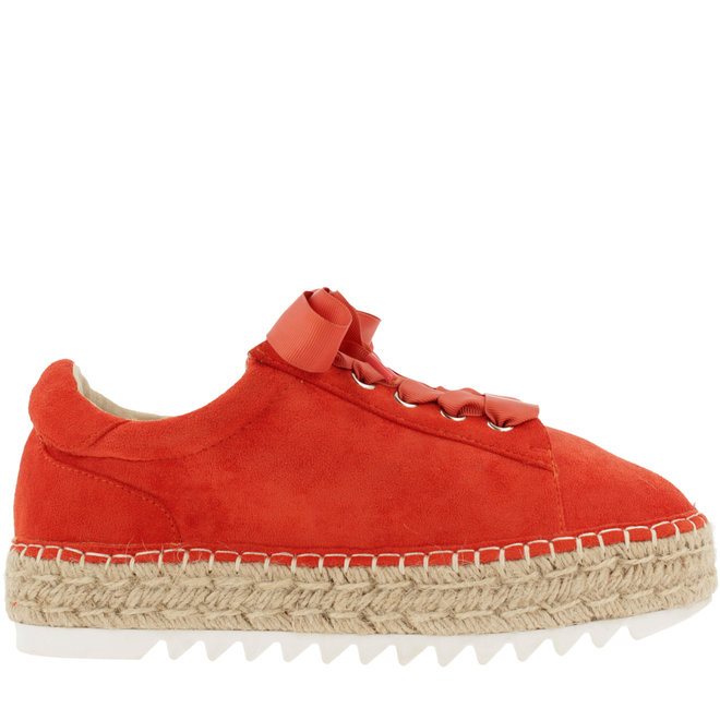 Espadrille with laces Coral