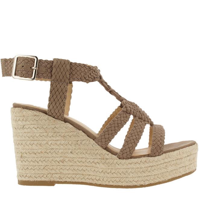 Sandalen mit Keilabsatz Taupe 175018F2TATAUPTD
