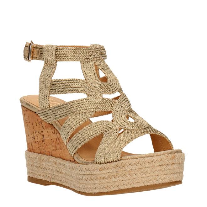 Sandalen mit Keilabsatz Goldfarben 175022F2T_GOLDTD