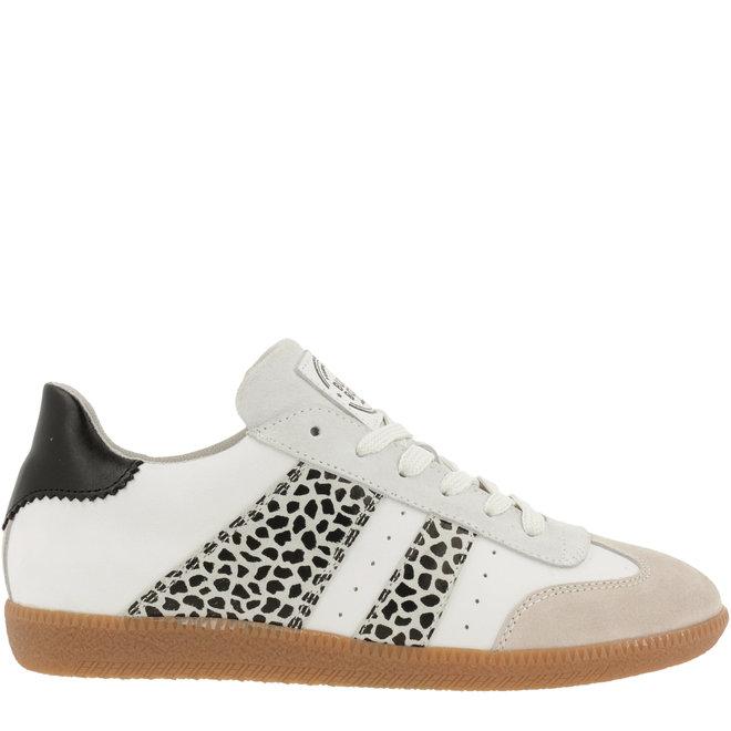 Sneaker Weiß mit SchwarzWeiss-Druck