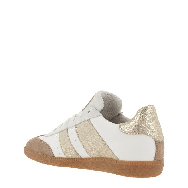 Sneaker Wit met Goud 930000E5L_PLTNTD